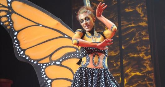 Body Painting papillon Ballerine et artiste-maquilleuse